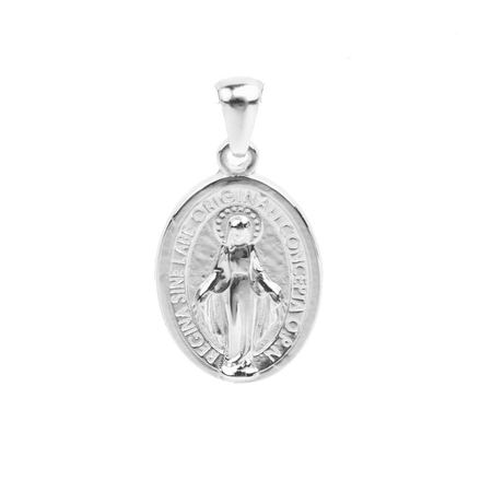 Small Saint Mary Charm - Rhodium