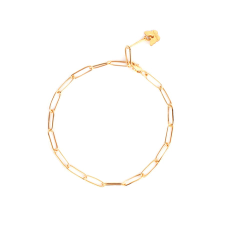 Sterling Silver Memoire Collectable Bracelet - Yellow Gold Plated