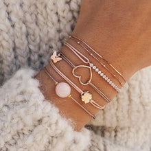 Load image into Gallery viewer, Small Clover Bracelet - Rose Gold Plated