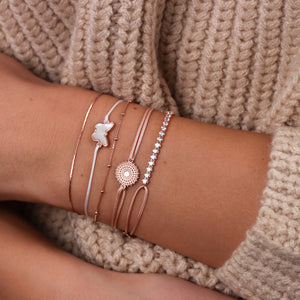 Memoire Small Butterfly MoP Bracelet - Rose Gold Plated