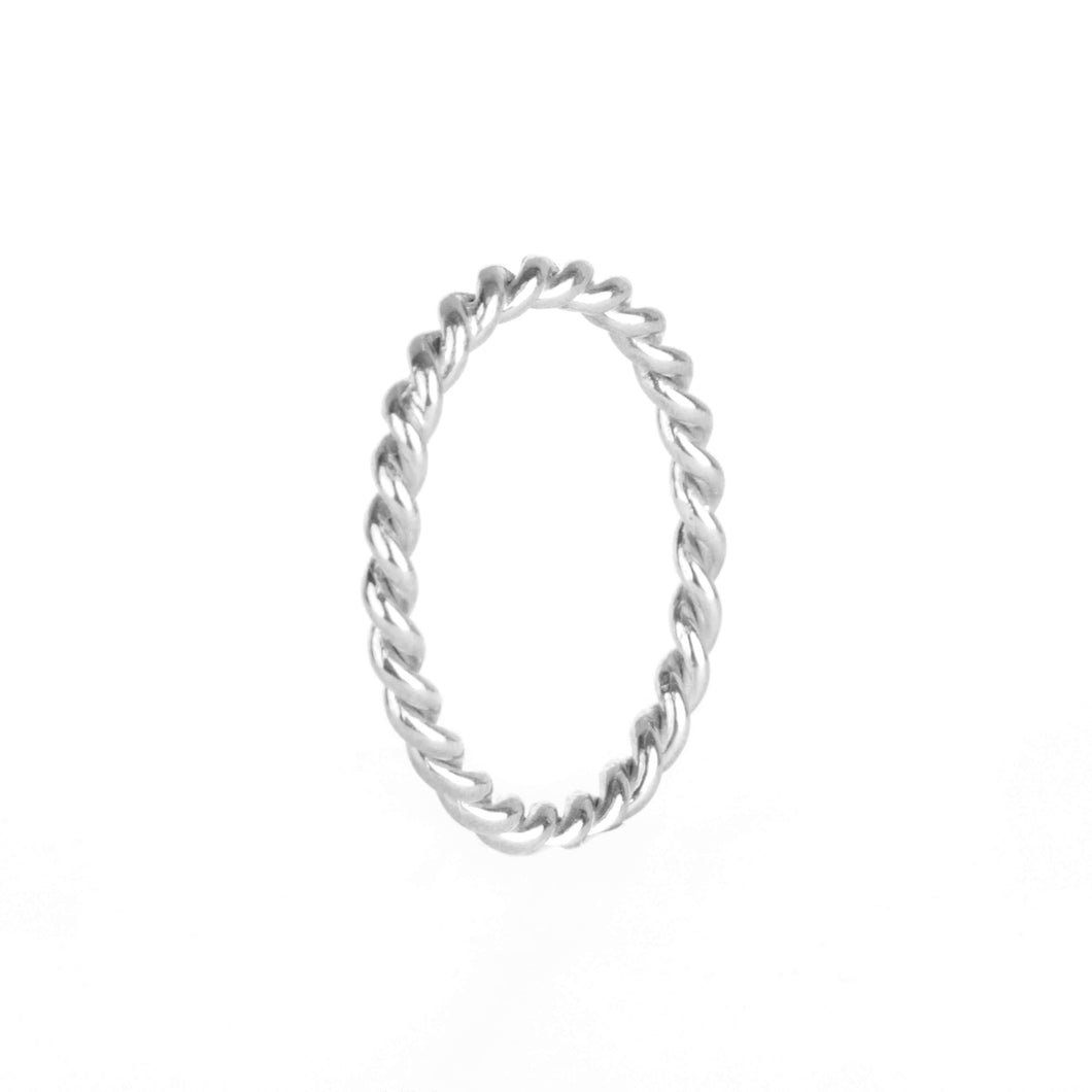 Memoire Twisted Ring - Rhodium Plated