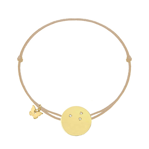 Zircon Medallion Bracelet - Yellow Gold Plated - BRACELET - [variant.title]- Borboleta