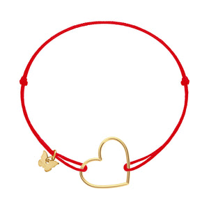 Hole Heart Pendant Bracelet - Yellow Gold Plated - BRACELET - [variant.title]- Borboleta