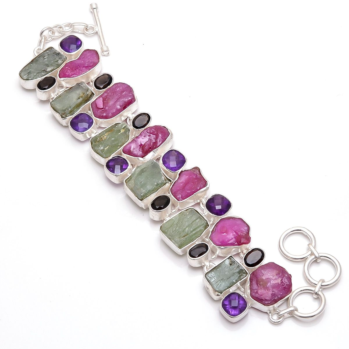 gleam blue bracelets gemstone amethyst fine topaz silver citrine made and excellent quality multi with p garnet studded of peridot bracelet sterling in for gifting
