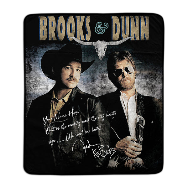 Brooks & Dunn Customizable Signature Fleece Blanket