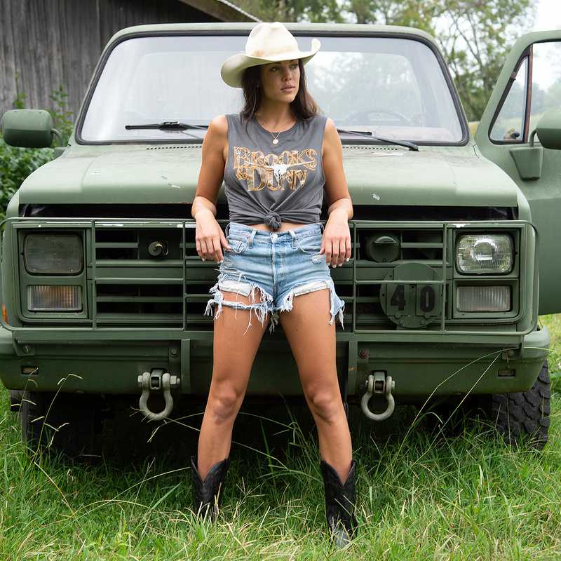 Brooks & Dunn Exclusive Realtree™ Camo Charcoal Muscle Tee