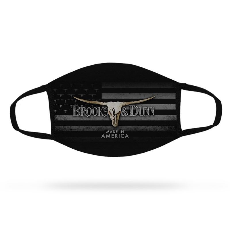 Brooks & Dunn Made in America Face Mask