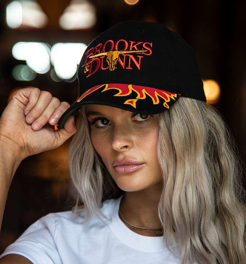 Brooks & Dunn 90's Flame Hat