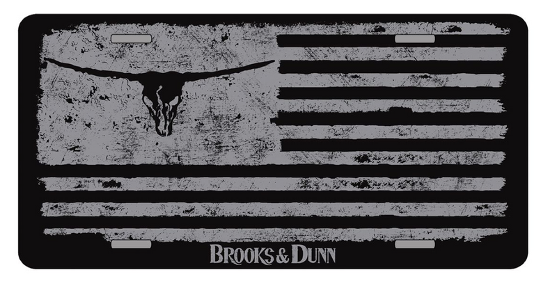 Brooks & Dunn Flag License Plate