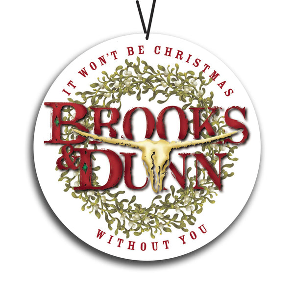 Brooks & Dunn Christmas Ornament