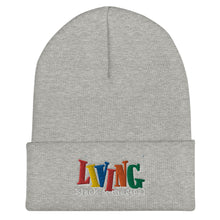 "Load image into Gallery viewer, ""Living Black & Magical"" Cuffed Beanie"