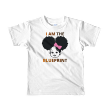 "Load image into Gallery viewer, Girls Short sleeve ""I Am the Blueprint"" t-shirt (Ages 2-6)"