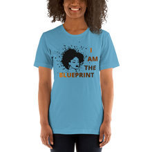 "Load image into Gallery viewer, Lady ""I Am the Blueprint"" T-Shirt"