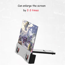 Load image into Gallery viewer, Universal  12 inch 3D Phone Screen Amplifier HD Blu-ray Mobile Phone Magnifier with Bluetooth Speaker - Home Garden Trend