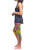 Yellow Paisley Splash Long Tank