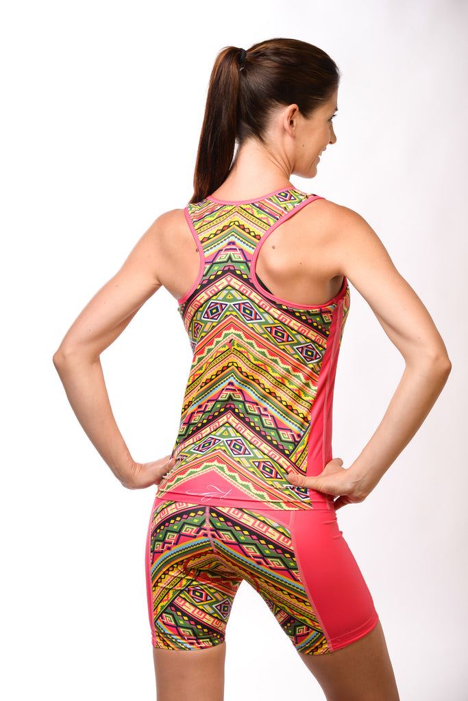 Pink Tribal Tri Short