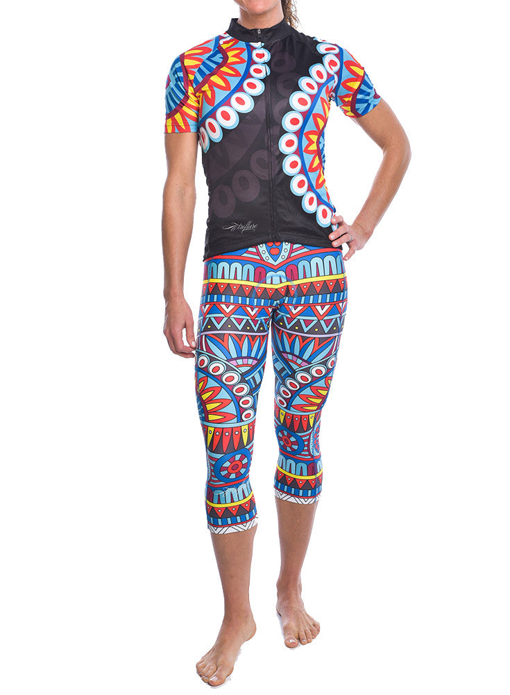 Tribe Vibe Full Color Cycle Capris