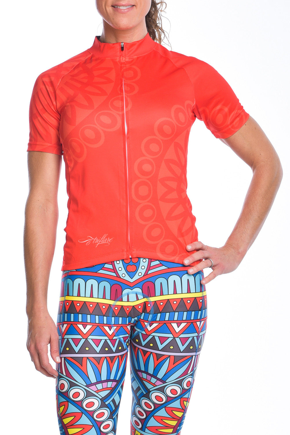 Tribe Vibe Crimson Womens Cycle Jersey