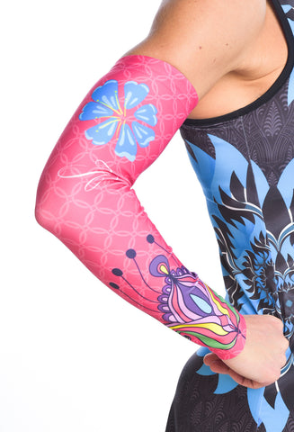 MIXED PINK ARM WARMERS