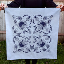 Load image into Gallery viewer, Astor bandana-gray and indigo