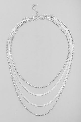 Four Chain Necklace Silver