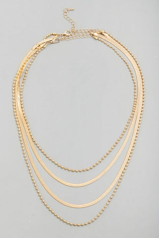 Four Chain Necklace Gold