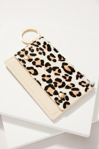 Animal Print Wallet Light White