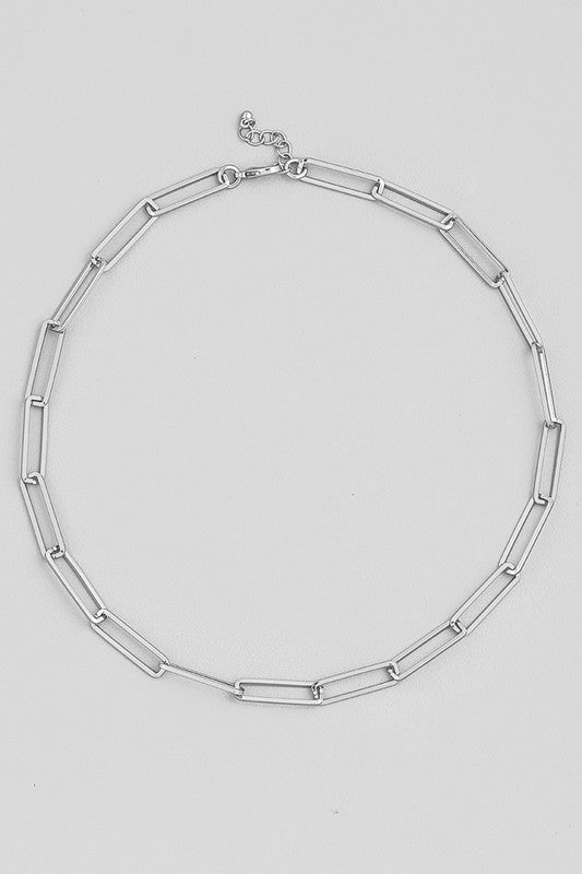 "16"" Chain Necklace Silver"