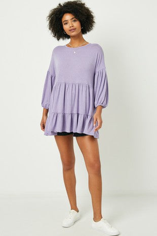 Puff Sleeve Tiered Tunic