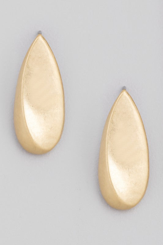Teardrop Dangle Earring Gold