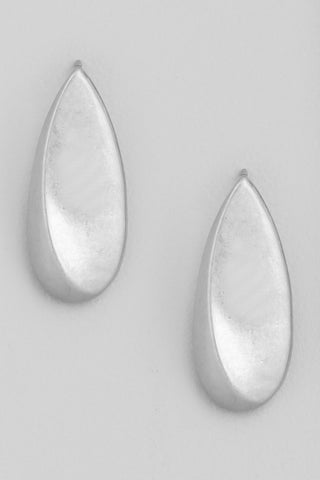 Teardrop Dangle Earring Silver