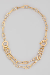 Link Chain Necklace White Gold