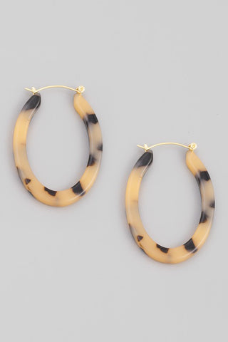 Tortoise Shell Hoop Cream