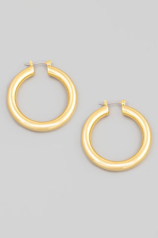 Thick Hoops Gold