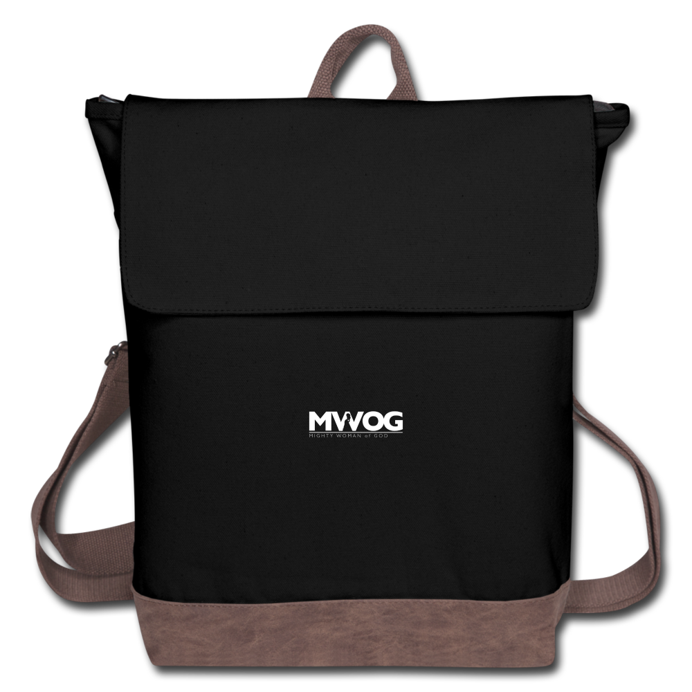 MWOG Women's Canvas Backpack - black/brown
