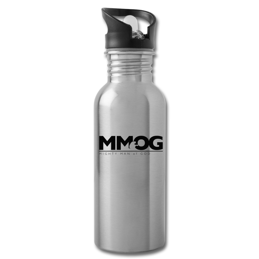 MMOG Water Bottle - silver