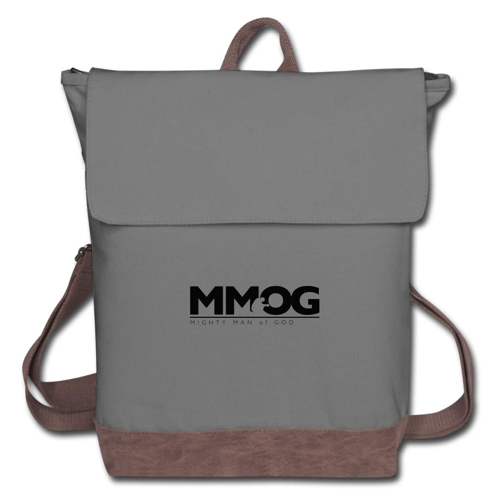 MMOG Men's Canvas Backpack - gray/brown