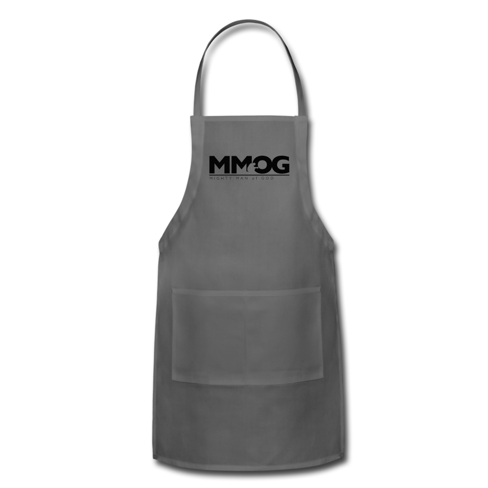 MMOG Men's Adjustable Apron - charcoal
