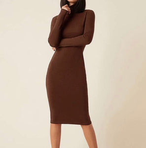Basic Turtleneck Dress