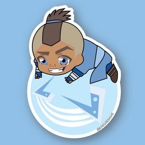 Sokka with Boomerang Sticker