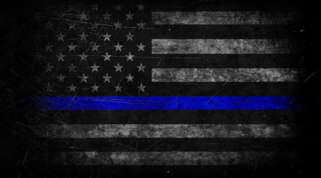 blue lives matter with new thin blue line pattern for law