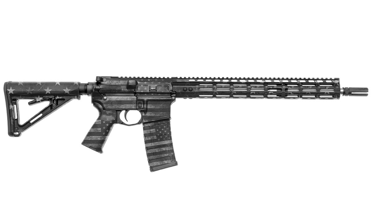 AR-15 Rifle Skin (GS America Grey)