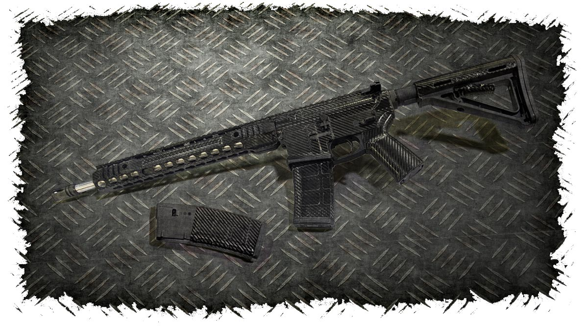 AR-15 Rifle Skin (Carbon Fiber)
