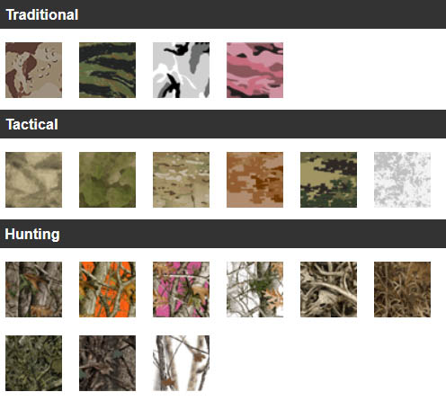 Original 19 Camo Patterns