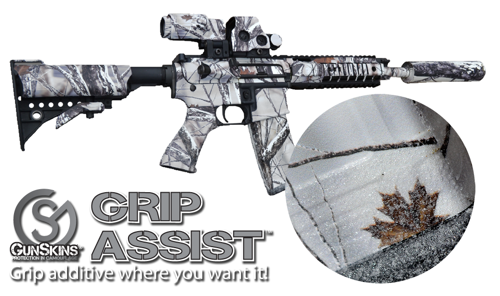 Grip Assist can be applied on top of existing GunSkins