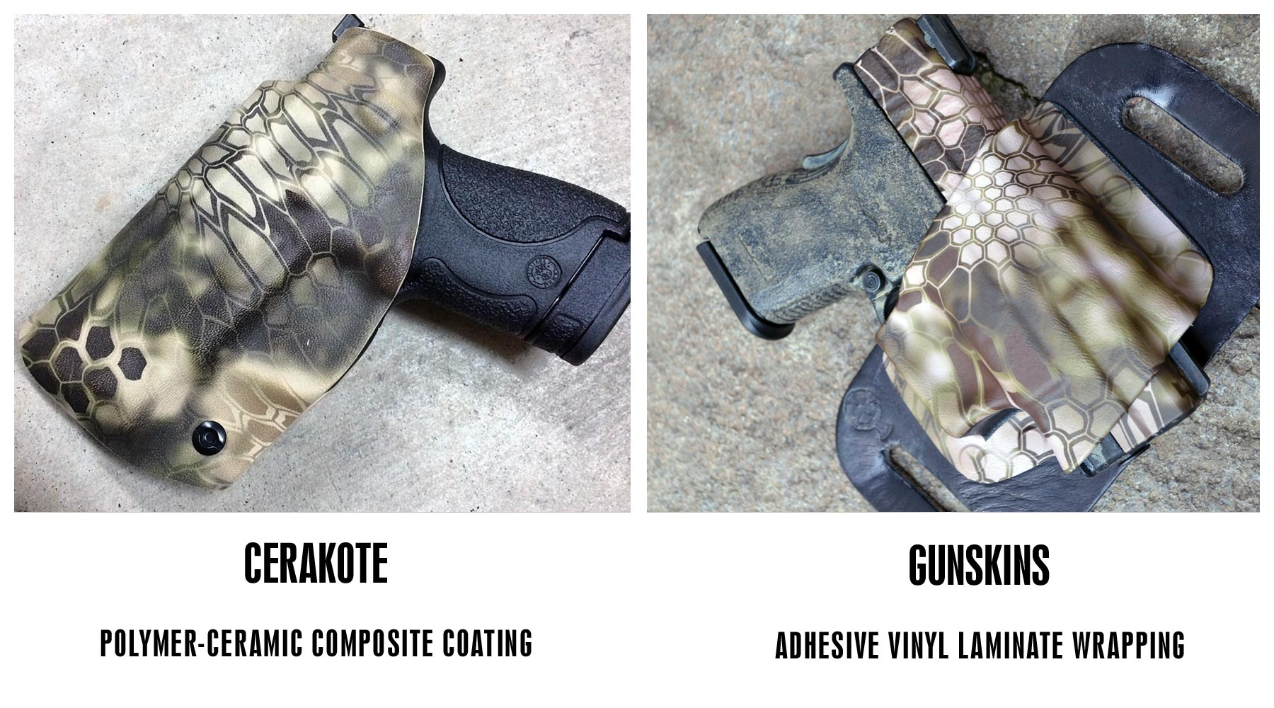 GunSkins and Cerakote Finish Comparison