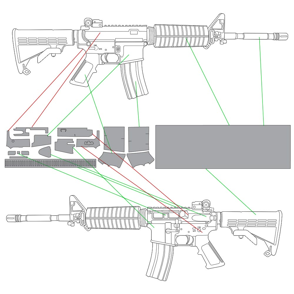 Template Compatibility for Left Handed AR-15 Rifles