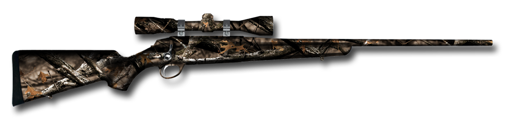 Rifle Skin wrapped in Lost Camo