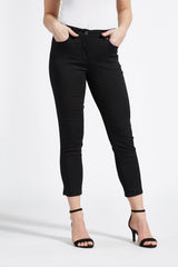 Amy Slim Cropped Bukser - Black