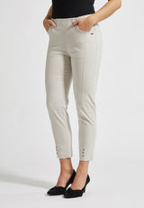 Chloe Slim Cropped Bukser - Grey Sand